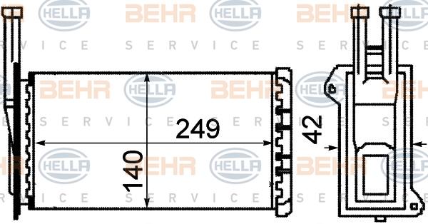 Système de chauffage - HELLA - 8FH 351 311-571