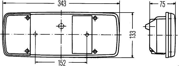 Voyant, feu arrière - HELLA - 9EL 122 689-021