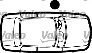 Poignée de porte - VALEO - 256890