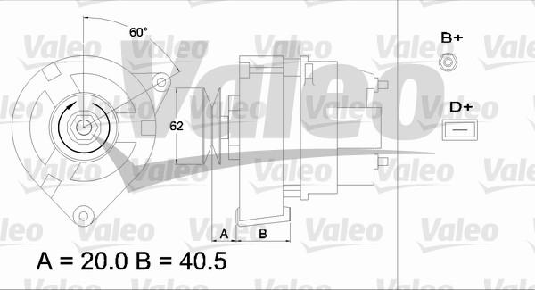 Alternateur - VALEO - 433351