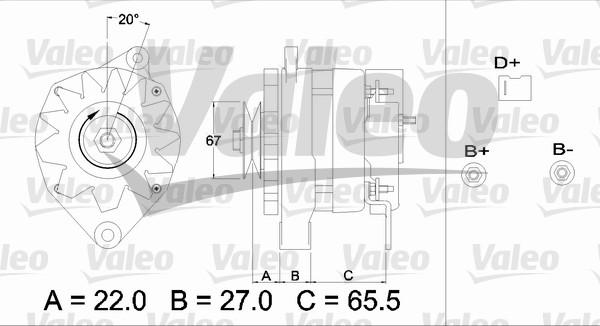 Alternateur - VALEO - 433374