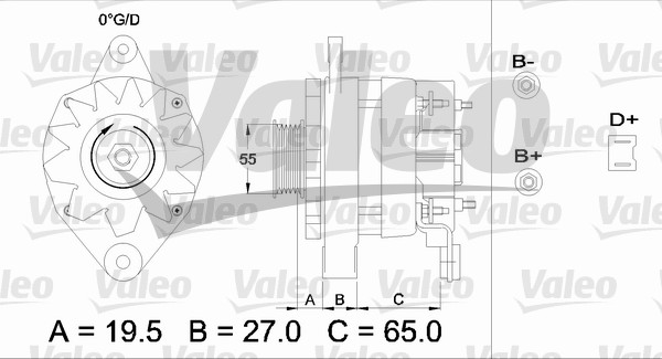 Alternateur - VALEO - 433444