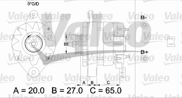 Alternateur - VALEO - 433445