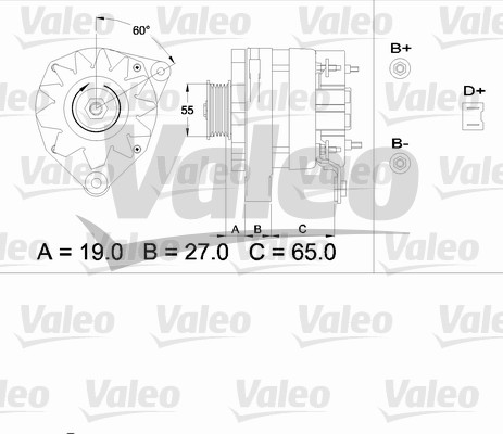 Alternateur - VALEO - 433488