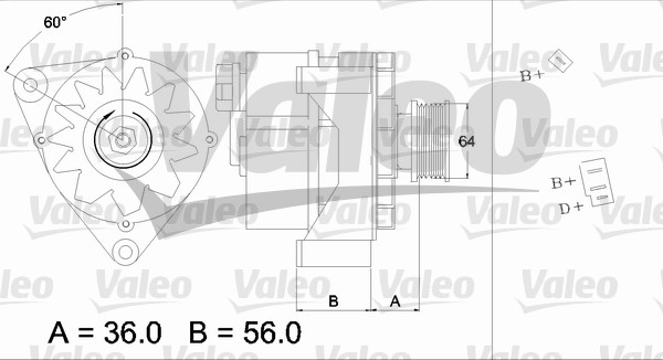 Alternateur - VALEO - 436120