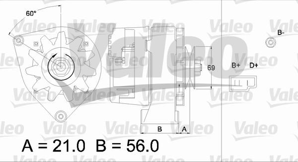 Alternateur - VALEO - 436146