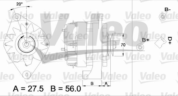 Alternateur - VALEO - 436161