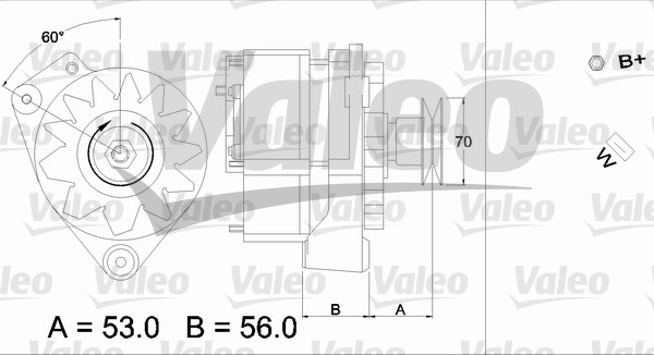 Alternateur - VALEO - 436191