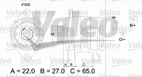 Alternateur - VALEO - 436275