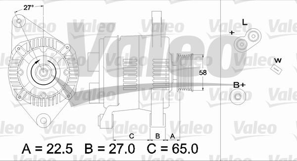 Alternateur - VALEO - 436283