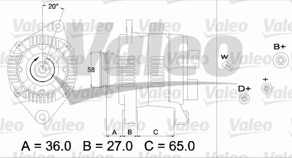 Alternateur - VALEO - 436284
