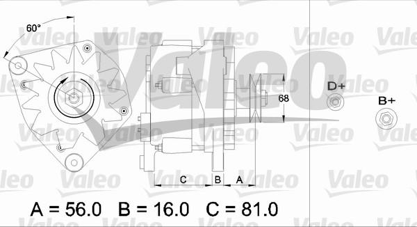 Alternateur - VALEO - 436330