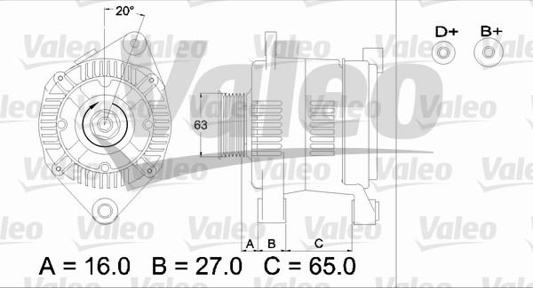 Alternateur - VALEO - 436336