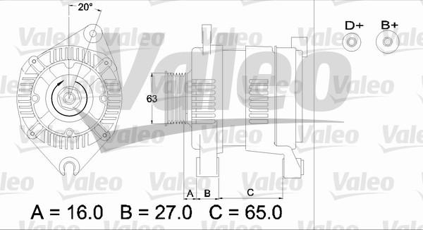 Alternateur - VALEO - 436340