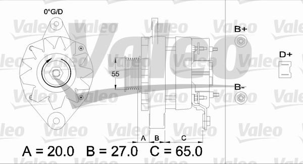 Alternateur - VALEO - 436455