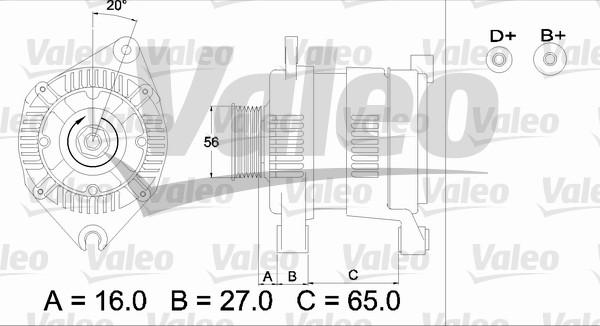 Alternateur - VALEO - 436477