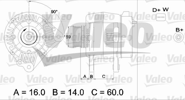 Alternateur - VALEO - 436483