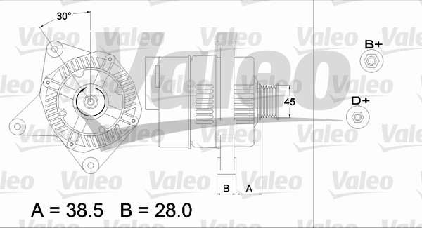 Alternateur - VALEO - 436486