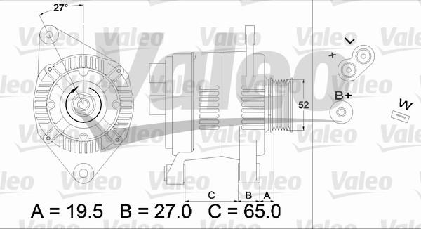 Alternateur - VALEO - 436616