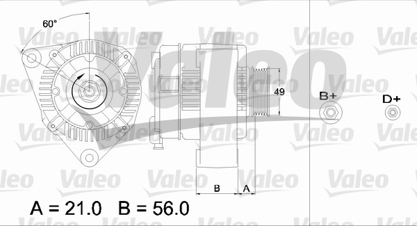Alternateur - VALEO - 436619