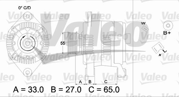 Alternateur - VALEO - 436646