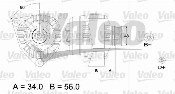 Alternateur - VALEO - 436667
