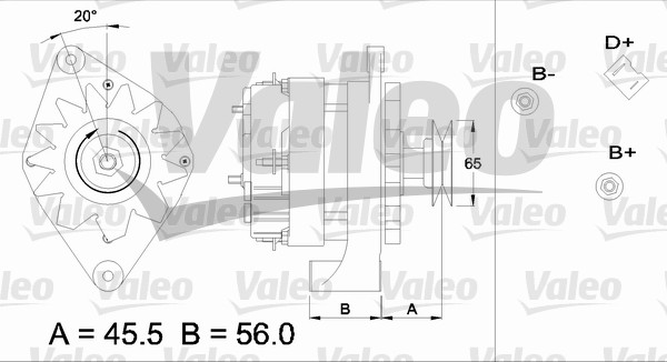 Alternateur - VALEO - 436681