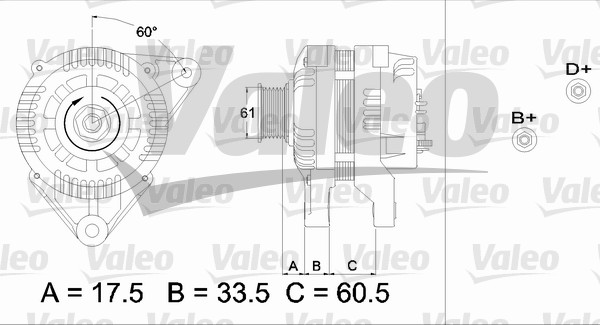 Alternateur - VALEO - 436719