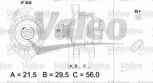 Alternateur - VALEO - 436752