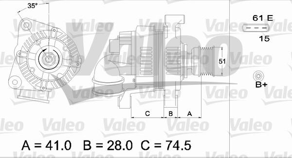 Alternateur - VALEO - 437115