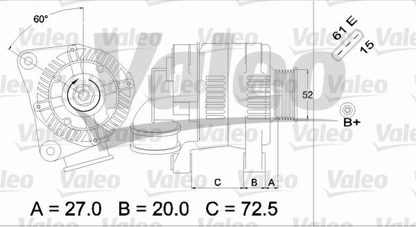 Alternateur - VALEO - 437118
