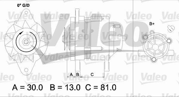 Alternateur - VALEO - 437150