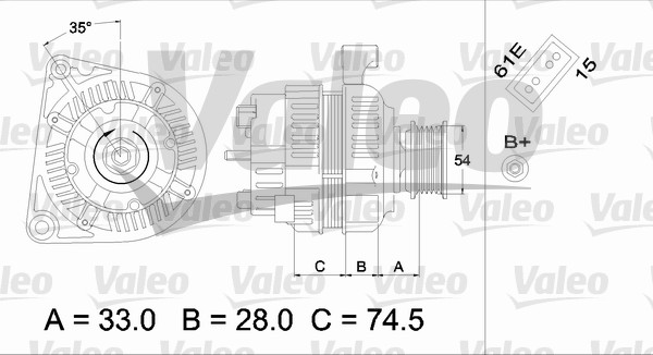 Alternateur - VALEO - 437160