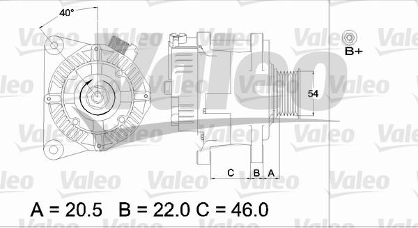 Alternateur - VALEO - 437192