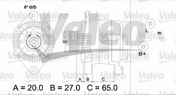 Alternateur - VALEO - 437201