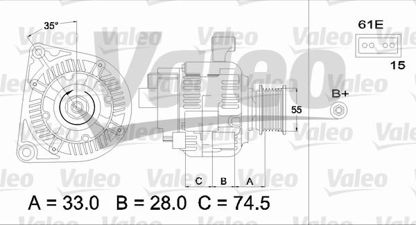 Alternateur - VALEO - 437227