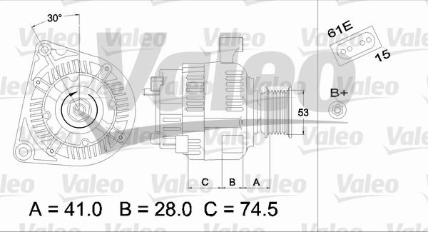 Alternateur - VALEO - 437320