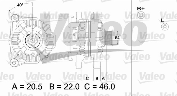 Alternateur - VALEO - 437328