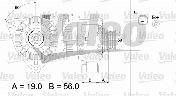 Alternateur - VALEO - 437344