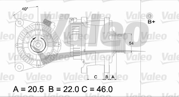 Alternateur - VALEO - 437357