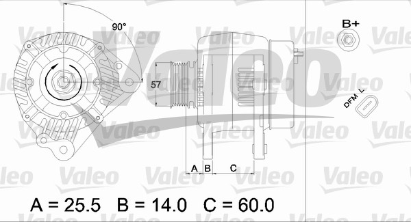 Alternateur - VALEO - 437401