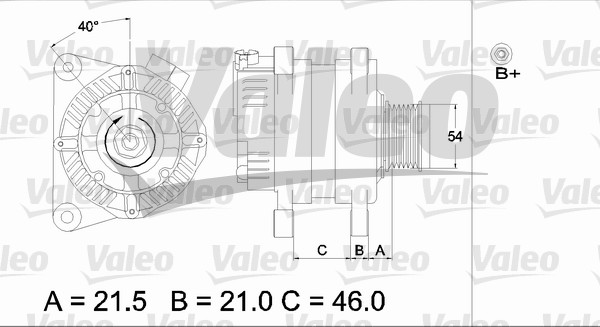 Alternateur - VALEO - 437407