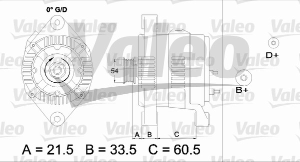 Alternateur - VALEO - 437422