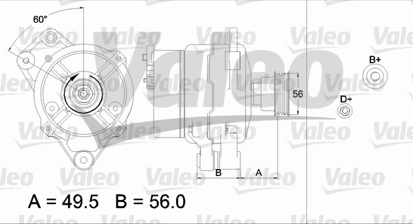 Alternateur - VALEO - 437438
