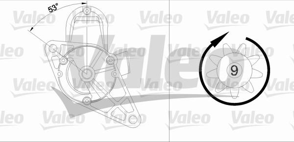 Démarreur - VALEO - 455980