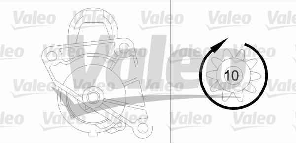 Démarreur - VALEO - 458172