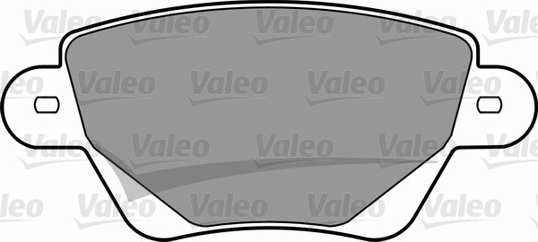 Kit de plaquettes de frein, frein à disque - VALEO - 598527