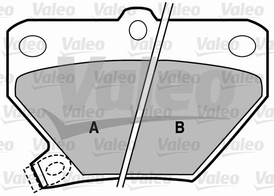 Kit de plaquettes de frein, frein à disque - VALEO - 598577