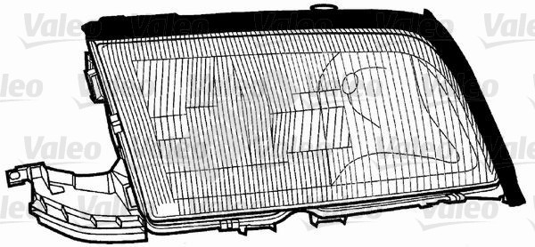 Glace striée, projecteur principal - VALEO - 086665