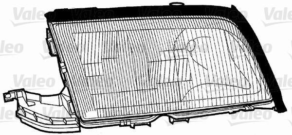 Glace striée, projecteur principal - VALEO - 086666